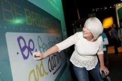 Интерактивная граффити стена