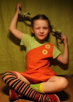 Детский костюм Пеппи Длинный Чулок
