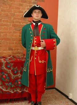 Костюм солдата Преображенского полка