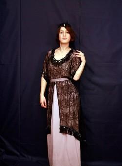 Женское платье 19 века в стиле модерн