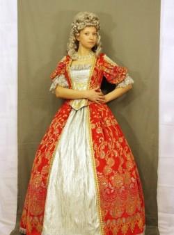 Женское платье 18 века с кринолином «Русское барокко»